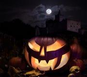 Jack o'Lantern on Halloween night Stock Image