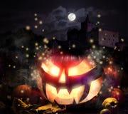 Jack o'Lantern on Halloween night Royalty Free Stock Photography