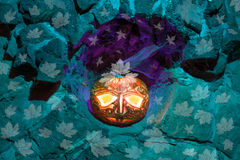 Jack o'Lantern on Halloween night Royalty Free Stock Images