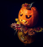 Jack O Lantern halloween pumpkin Royalty Free Stock Photography