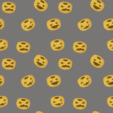 Jack O Lantern. Halloween pumpkin seamless vector pattern Royalty Free Stock Photo