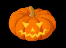 Jack-O-Lantern. Halloween pumpkin. Vector illustra Stock Photo