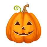 Jack-O-Lantern. Halloween pumpkin. Vector illustration. Stock Images