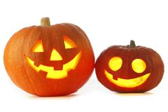 Jack O Lantern halloween pumpkins Stock Photography