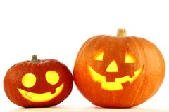Jack O Lantern halloween pumpkins Royalty Free Stock Photo