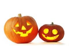 Jack O Lantern halloween pumpkins Stock Image