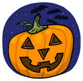 Jack-o-lantern illustration Stock Photo