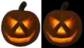 Jack O Lantern isolated. Symbol of a holiday of Halloween: a pumpkin O Lantern, isolated Stock Images