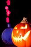 Jack-O-Lantern and Magic Potion Royalty Free Stock Photo