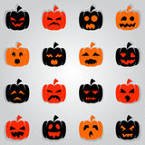 Jack O' Lantern Mood. Icon for decoration artwork about Halloween festival - Vector Stock Images