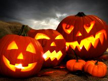 Jack o Lantern night scene Royalty Free Stock Image