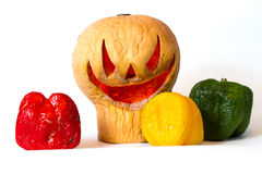 Jack-o'-lantern in old age Stock Photography