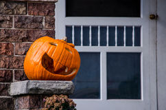 Free Jack-o-lantern On The Porch Royalty Free Stock Images - 28151109