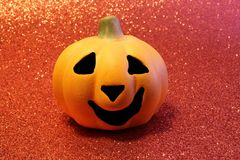 Jack o lantern  one of the symbols of Halloween. Orange jack-o'-lantern, one of the symbols of Halloween Royalty Free Stock Photography