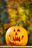 Jack-o-lantern outside afternoon Stock Photography