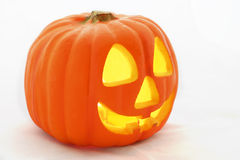 Jack-O-Lantern Profile on White Royalty Free Stock Photography