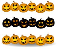 Jack O Lantern Pumpkin Borders Royalty Free Stock Images