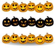 Jack O Lantern Pumpkin Borders Royalty Free Stock Images