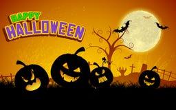 Jack-o-lantern Pumpkin in Halloween night Royalty Free Stock Image