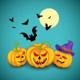Jack o lantern pumpkin for Halloween night Stock Photos