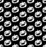 Jack-o-lantern pumpkin head black and white color Royalty Free Stock Images