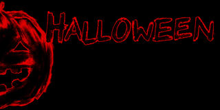 Jack-o-lantern pumpkin head chalk charcoal pencil illustration Stock Photo
