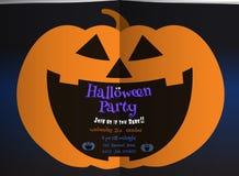 Pumpkin Jack smiling on dark BG halloween illustration stock photography