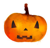 Jack o lantern pumpkin with scary face Stock Photo