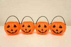 Jack-O-Lantern pumpkin on the table Royalty Free Stock Image