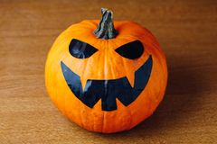 Jack-o-lantern pumpkin template for Halloween stock photos