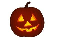 Jack-O-Lantern Pumpkin with White Background Stock Photos