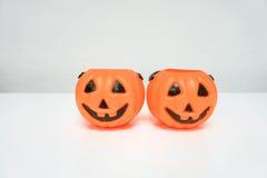 Jack-O-Lantern pumpkin in white background Stock Photography