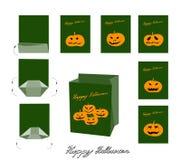 Jack-o-Lantern Pumpkins and Evils for Halloween Bag royalty free illustration
