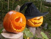 Jack-o-lantern pumpkins Stock Images