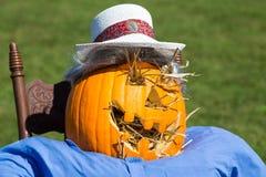 Jack o Lantern Scarecrow Stock Images