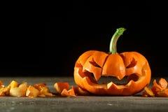 Jack-o'-lantern scolpito Fotografia Stock