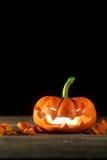 Jack-o'-lantern scolpito Fotografia Stock Libera da Diritti