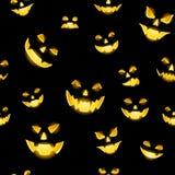 Jack-o-lantern seamless Stock Images