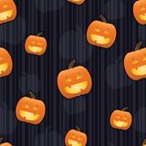 Jack-O-Lantern Seamless Tile Stock Photos