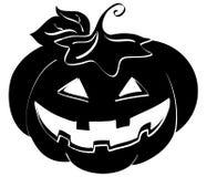 Jack-o-lantern silhouette Stock Photos