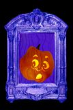 Jack o lantern takes fright Royalty Free Stock Photography