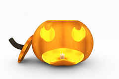 Jack-O-Lantern with Top Off Royalty Free Stock Photography