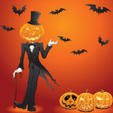 Jack O Lantern In a Tux Royalty Free Stock Photo