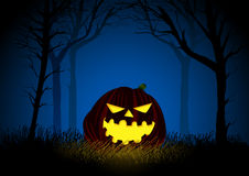 Jack-o-lantern. On woods background for Halloween theme Royalty Free Stock Photography