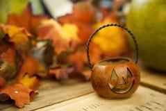 Jack-o-lanterna da abóbora de Halloween Imagem de Stock Royalty Free