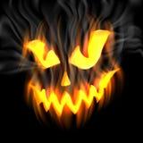 Jack-o-lanterna in fumo Fotografia Stock