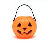 Jack-o-lanterna plástica isolada Imagens de Stock