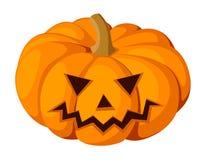 Jack-O-Lanterna. Zucca di Halloween. Illustra di vettore Fotografie Stock Libere da Diritti