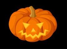 Jack-O-Lanterna. Zucca di Halloween. Illustra di vettore Fotografia Stock