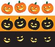 Jack-O-Lanternas de Halloween Ilustração do Vetor